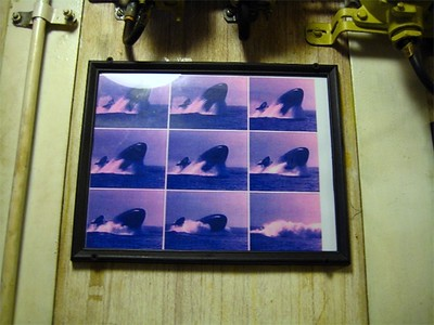 Photo sequence of an emergency ascent.  This was hanging in the officers dining nook.