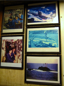 Miscellaneous shots hanging in the officers dining area.