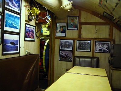 Another angle of where the officers ate.  Note the images on the back wall too.