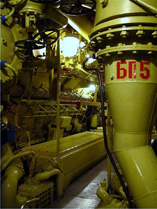 A view looking back into the engine room.