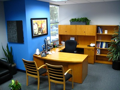Rick's office - in a Roland corporate colors scheme!