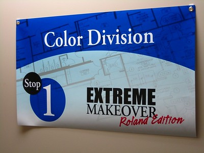 First stop - Color Division's Customer Services group.