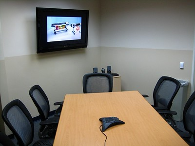 Customer Services conference room - new flat panel included!