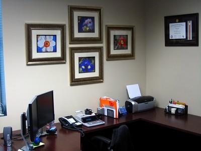 Lili's office - I like the frames!