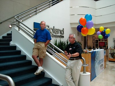 Ron and Dave, ready to receive guests!
