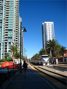 We travelled to San Diego via the Amtrak Surfliner out of Irvine.  Why fly when you don't need to?