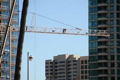 Crane workers - different angle.