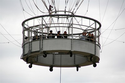 Close of of the balloon gondola.