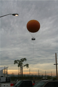 The balloon as seen from the parking lot.