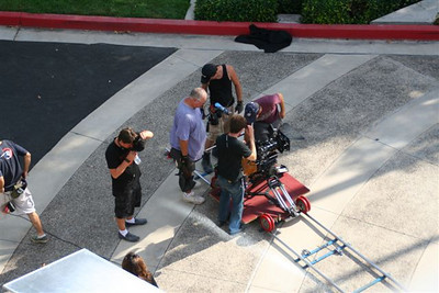 Camera dolly as seen from above.