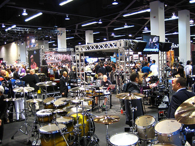 The percussion section was the loudest - Hmmmm, I wonder why.  The exhibitors must go home at night with ringing in their ears.