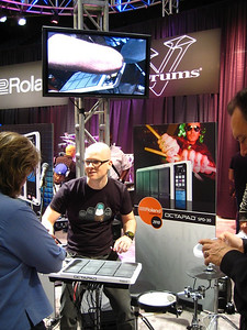 My favorite demo of the day.  A true enthusiasm for the Octopad from Roland.  I just may have to get one!