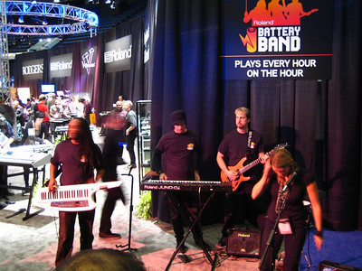"""The new Roland portable solution.  This band was amped, but not plugged in!  Hence, the """"Battery Band""""!"""