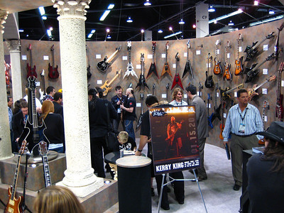 Kerry King (Slayer) was up next for a signing.  The line was already wrapped around the booth.