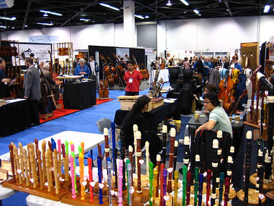 2010 NAMM Show - Very colorful, but quieter section of the show!  Interested in a recorder?