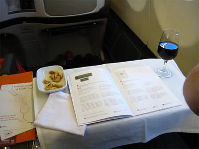 Wine tasting at 37,000 feet.