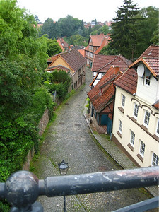 "Lauenburg, Germany.  To the ""Unterstadt"", the ""lower city"" along the river."