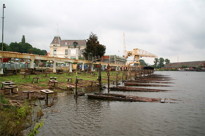 Dry dock area at Hitzler Wharf in Lauenburg.