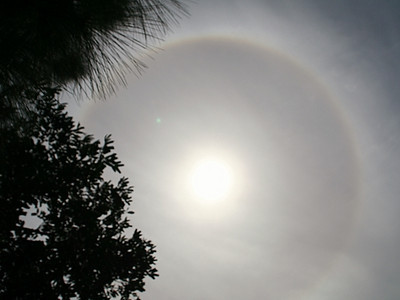 A full halo in South County this afternoon, March 5, 2010.