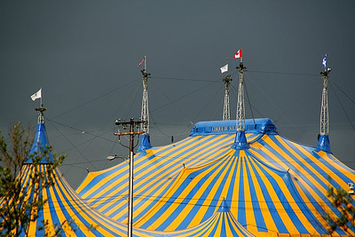 Telephoto shot of Cirque's big top!