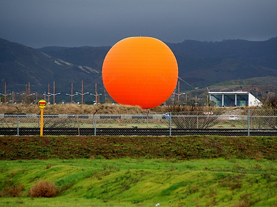 """The gray skies of the storm created such a high contrast, """"high color saturation"""" look to the new Great Park Balloon!  You've got to go there to believe it!"""