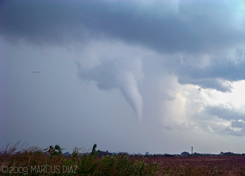 After a short drive through some trees and small hills, we came up to this elephant trunk tornado.