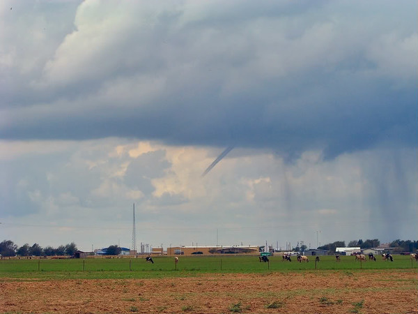 Cold air funnel outside of Hereford, TX | September 2008
