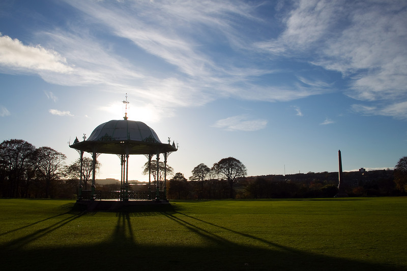 Early morning light. Band Stand at the Duthie park Aberdeen Scotland