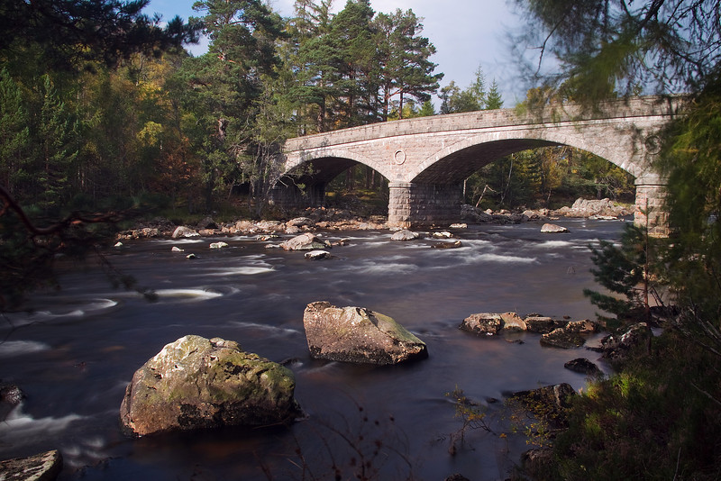 Road Bridge invercauld near Braemar Scotland.