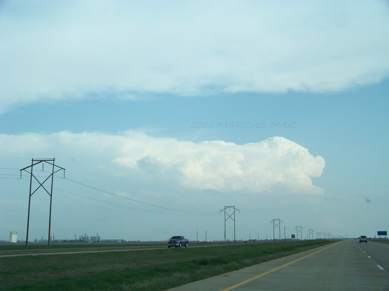 April 21, 2010<br /> <br /> My first glimpse of my first storm, driving south on I-27 near Tulia, TX.