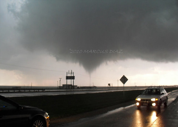 April 20, 2010<br /> <br /> Regardless the funnel tightens up and a tornado condensates all the way down. Everyone that was around me flees quickly.