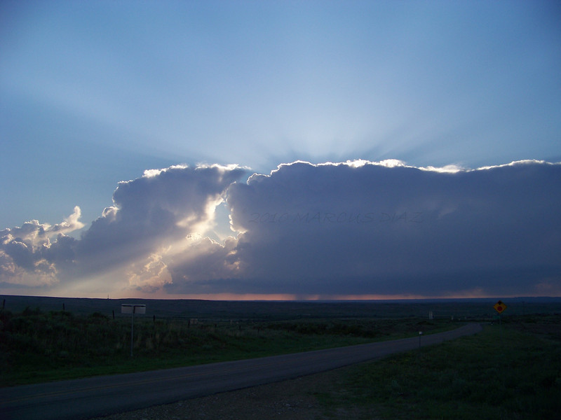 Storms firing off the dryline to my west. I'm somewhere north of Pampa on HWY 70.