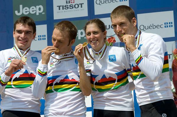 Switzerland Team -  from L: Roger Walder / Ralph Naef / Katrin Leumann / Thomas Litscher