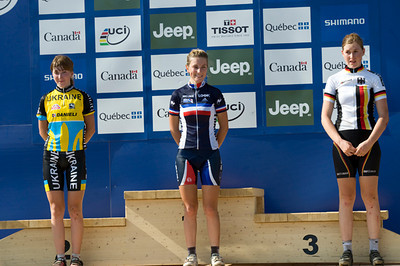 Yana Belomoyna - Ukraine / Pauline Ferrand Prevot - France / Helen Grobert - Germany