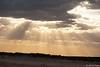Sun rays at Ninety Mile Beach, Victoria.