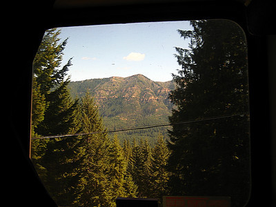 The terrain is getting mountainous!  Oregon, here we come.