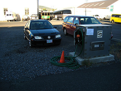 """""""Das Jet""""!  For those of you paying attention, this car was in this parking spot in 2009 when we took the same train.  Must work at the station!"""