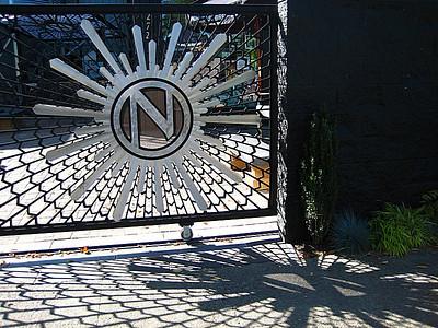 Ninkasi Brewery gate in Eugene, Oregon!