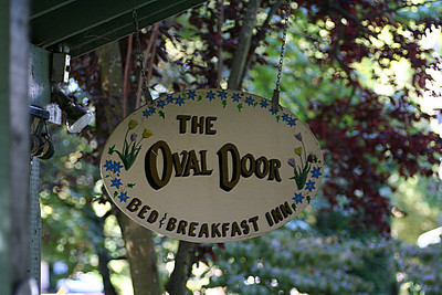 Our B&B, The Oval Door.