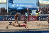 Women's final in Campeonato Nacional de Voleibol de Playa at Playa de Jaco, Jaco Costa Rica.