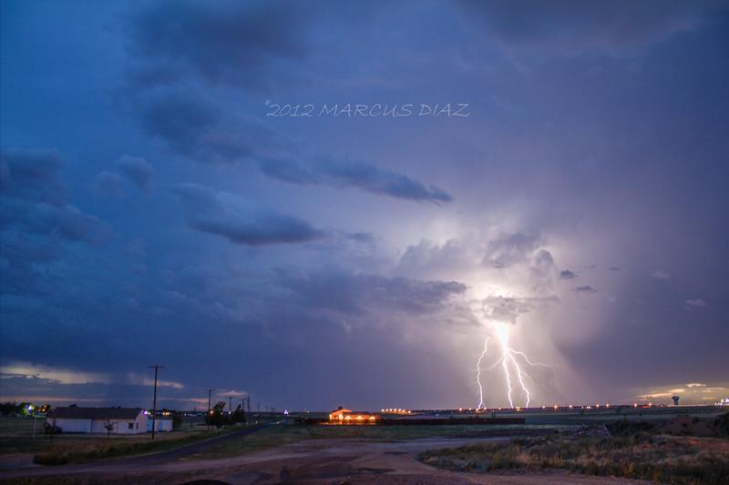 Lightning strike west of Amarillo, TX | July 24, 2012