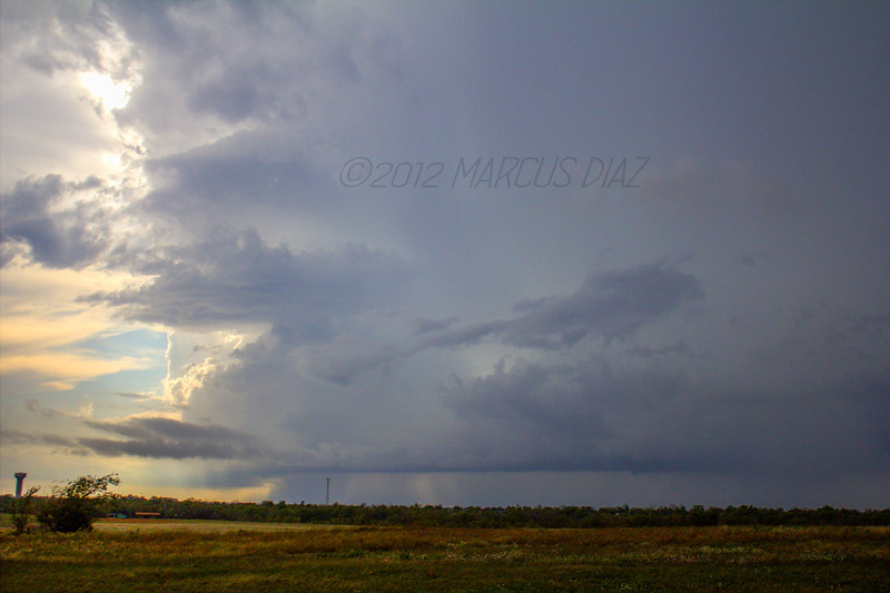 HP supercell near Lawton, OK | October 13, 2012