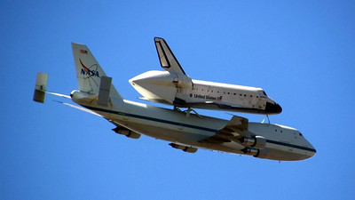 Endeavour passing.  (My favorite shot of the day.)