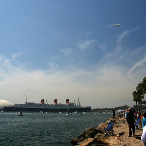 Over the Queen Mary!