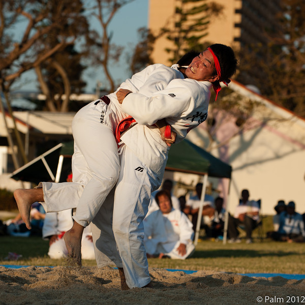 Okinawa sumo wrestling in Onoyama koen Naha, Okinawa.