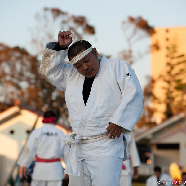 Okinawan sumo wrestling in Onoyama koen Naha, Okinawa.