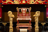 The throne at Shuri-jo, the old Ryukyu kingdom's royal family's castle, Naha Okinawa.