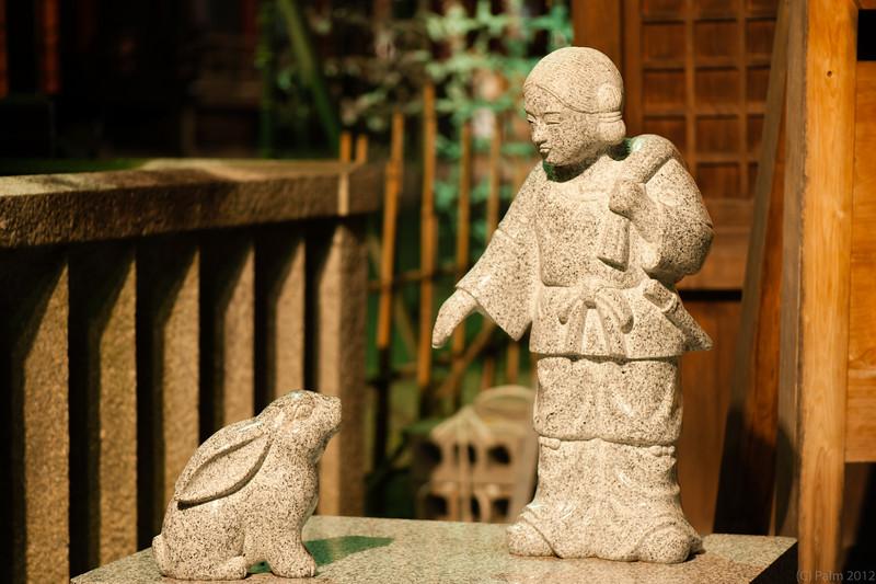 Statue on the Yasaka shrine property, Kyoto.