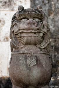 Shisa at Shuri-jo, the old Ryukyu kingdom's royal family's castle, Naha Okinawa.