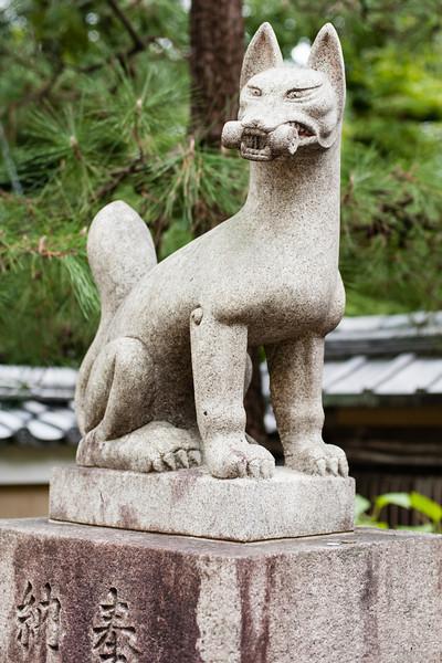 Kitsune at a shinto Inari shrine, Kyoto.
